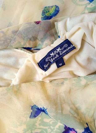 Шикарное шифоновое платье в бабочки размер 8-10 (40-42)6 фото