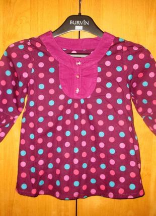 Яркая нарядная туника от mothercare, рост 110 см, девочке 4-5 лет, хлопок