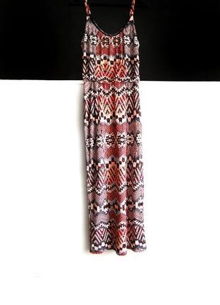 Макси платье сарафан warehouse в узоры