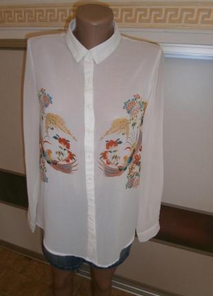 26ce16ce9930d03 Женские рубашки с принтом Pull&Bear 2019 - купить недорого вещи в ...