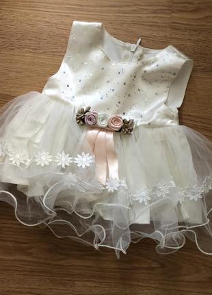 Платье на малышку, 0-3