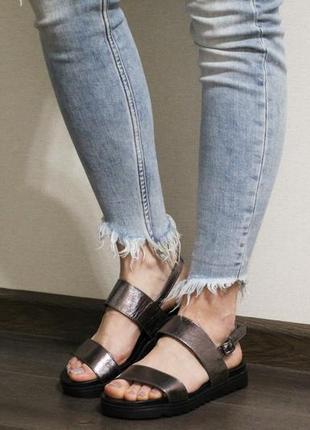 Распродажа! стильные женские босоножки (сандалии) на плоской подошве
