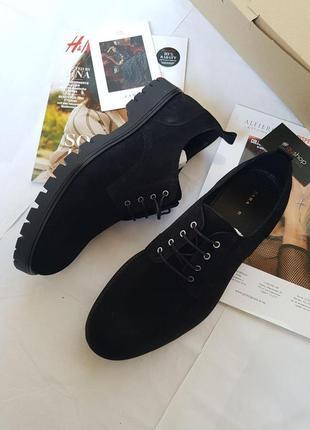 Кожаные ботинки от бренда zara! оригинал, из германии!