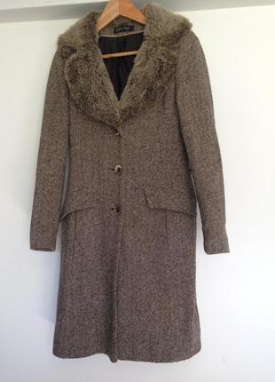 Шерстяное пальто topshop