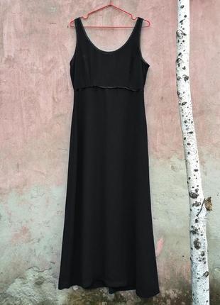 Вечернее чёрное платье от wallis, завышенная талия