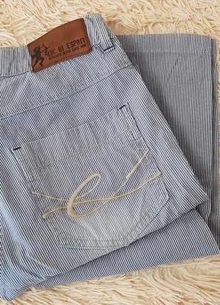 Брендовые летние светлые лёгкие джинсы esprit
