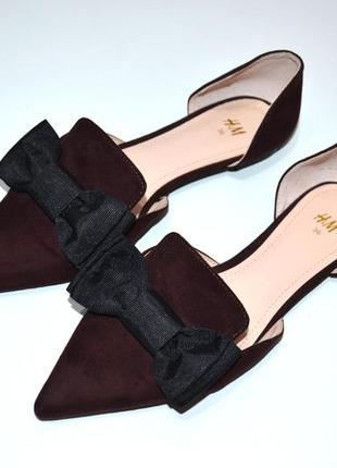 Туфли мюли с бантом h&m