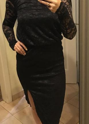 Кружевное нарядное платье asos, s