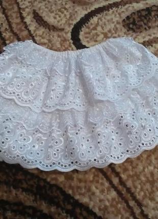Нарядная юбка с кружева