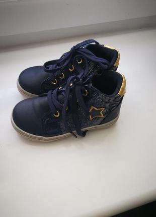 Ботинки синие на девочку