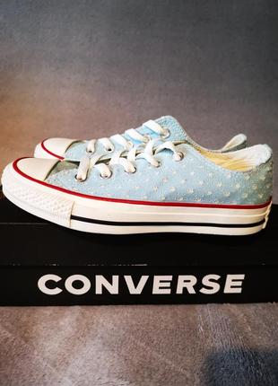 Оригинальные кеды converse chuck taylor® all star® ox - perf stars blue