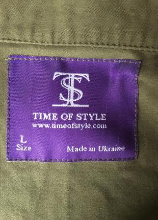 Куртка джинсовка time of style новая хаки4 фото