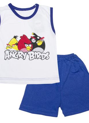 """Летний комплект костюм для мальчиков """"angry birds"""""""