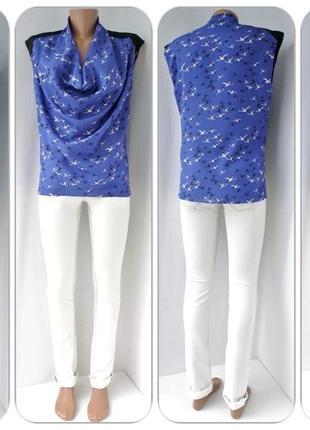 Очаровательная блузка kookai с аистами. размер eur36(s).