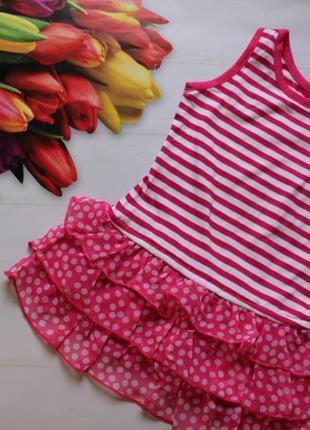 Платье place на малышку /сукня трикотаж кружево