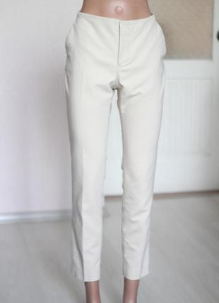 Бежевые брюки зара м 38 28 размер zara