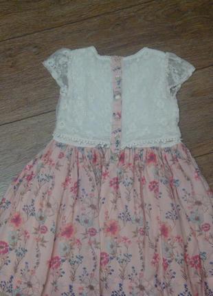 Красивое платье matalan 2-3 года с ажуром2 фото