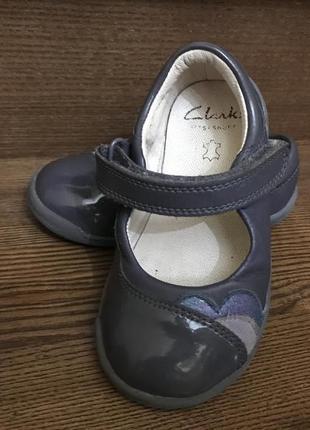 Детские кожаные туфельки туфли clarks
