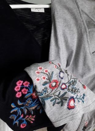 ⭕ черная блуза с вышивкой и переплетом, с открытыми плечиками papaya4 фото
