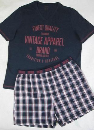 Хлопковая пижама домашний костюм, футболка шорты, livergy германия