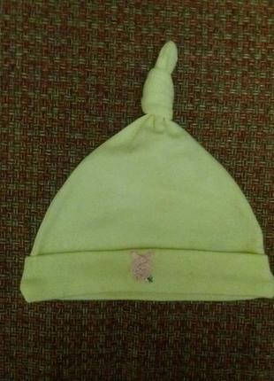 Классная шапочка на малыша 6-12мес