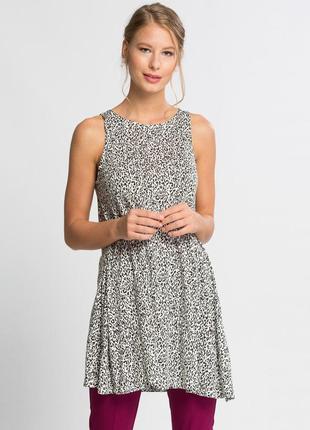 Белая женская блуза lc waikiki / лс вайкики в черные точки