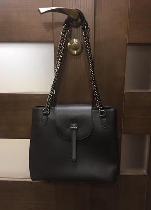 3f232ff63a7c Кожаная сумка сумка кожаная на цепочке через плечо кроссбоди Vera ...
