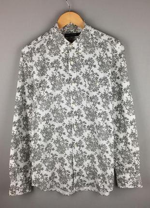 Белая хлопковая рубашка в цветочный принт french connection