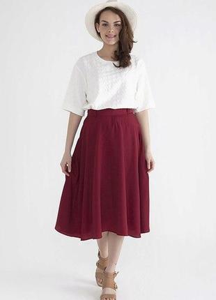 Воздушная шикарная шифоновая юбка миди