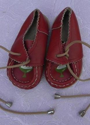 Туфли туфельки кожа 19 размер 11,5см стелька