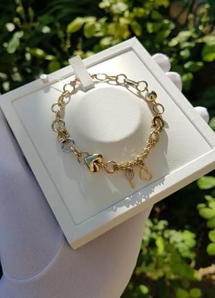 Красивый женский браслет на руку из золота 585 пробы 19 размера