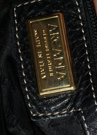 Arcadia. кожа. практичная сумка на 3 отделения5 фото