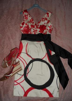 Красивое платье дорого бренда coast 10р,нат шелк ,в идеале