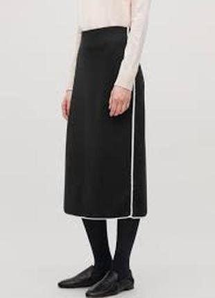 Cos шикарная шерстяная и с гонком юбка