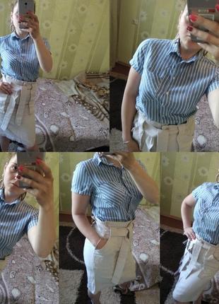 Котоновая рубашка от h&m