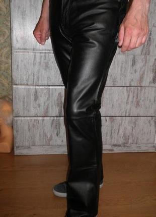 Стильные качественные джинсы мягкая натуральная кожа jds размер 48 италия