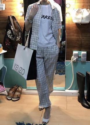 Прогулочный брючный комплект костюм пижамной стиль