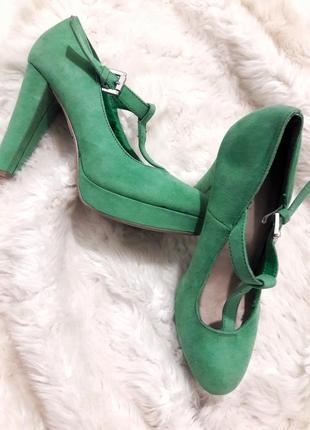 Замшевые туфли, туфли на высоком каблуке