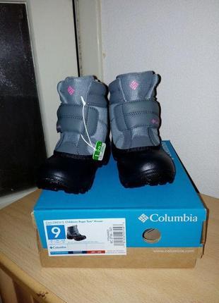 Columbia новые зимние ботинки для деток 26 размер
