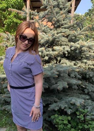 Платья в модную полоску + большие размеры