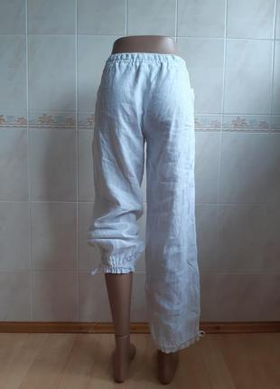 Штаны бриджи капри 100% лён
