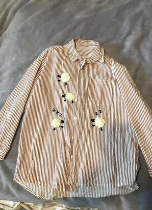 Летняя рубашка в полосочку