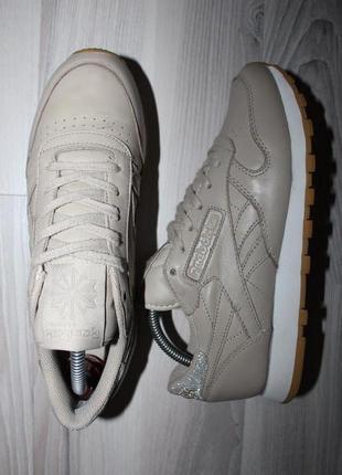 Оригинальные кроссовки reebok classic leather met diamond