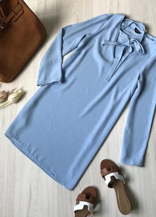 Нежно-голубое платье topshop размер м