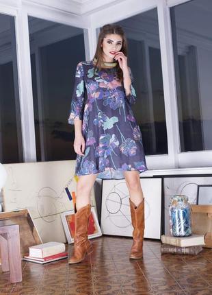 Крутое платье с цветочным принтом от eco