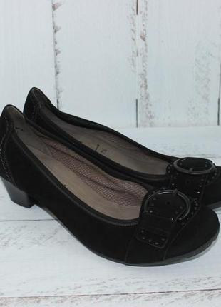 Gabor португалия замшевые туфли на удобном каблучке