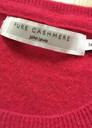 Кашемировый свитер с круглой горловиной john lewis 100% кашемир4 фото