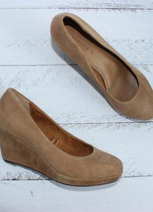 Pesaro замшевые туфли на танкетке, кожаные