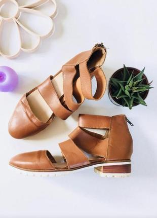 Стильные кожаные туфли, босоножки asos, с высокой пяткой