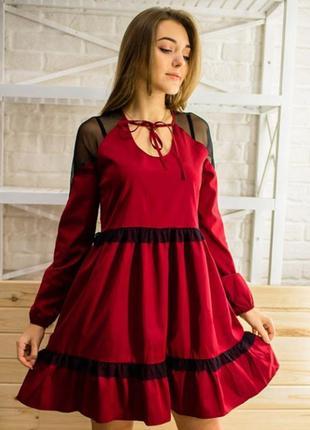 Скидка до 16 июня! шикарное платье с элементами их сетки и фатина!